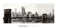 "Brooklyn Bridge - panorama by John Singer Sargent - 40"" x 20"""