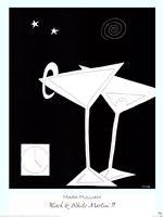 Black and White Martini II Fine Art Print