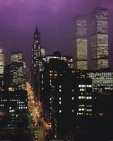 """Purple Skies - W.T.C. by Mali Nave - 16"""" x 20"""""""