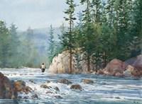 Wading Up a River Fine Art Print