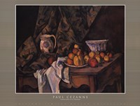 Still Life w Apples and Peaches Fine Art Print
