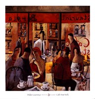 Cafe New York Fine Art Print