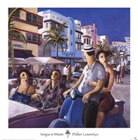 Vespa in Miami Fine Art Print