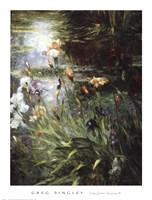 """Water Garden Symphony I I by Greg Singley - 31"""" x 41"""""""