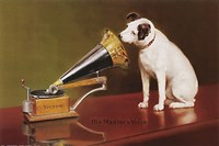 His Master's Voice Framed Print