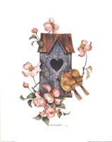 Birdhouse with Yellow Throats Fine Art Print