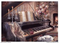 Sonata By Firelight (Mini) Fine Art Print