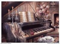 "Sonata By Firelight (Mini) by Judith Gibson - 7"" x 5"""