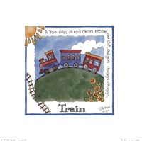 "Train by Lila Rose Kennedy - 8"" x 8"""
