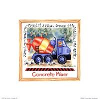 Concrete Mixer Fine Art Print