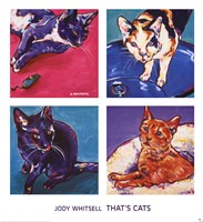 "That's Cats by Jody Whitsell - 28"" x 30"""
