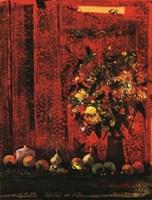 Mesa Con Mantel Rojo Fine Art Print