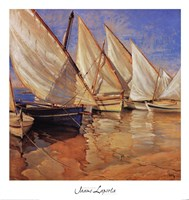 White Sails I Fine Art Print