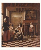 Interior of a Dutch house Fine Art Print