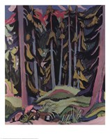 Forest with Brook Fine Art Print