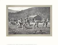 Snap the Whip, c.1872 (B&W) Fine Art Print