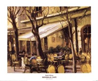 "Sidewalk Cafe by Keith Wicks - 24"" x 20"""