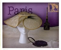 "Paris Hat by Judy Mandolf - 11"" x 9"""