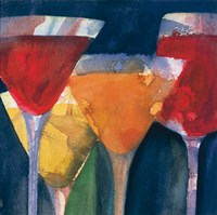 Four Mixed Drinks Fine Art Print