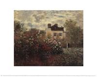 Artist's Garden In Argenteuil Fine Art Print