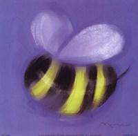 Bee On Blue Fine Art Print
