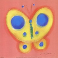 Butterfly On Pink Fine Art Print