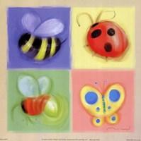 4 Bug Panel Fine Art Print