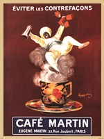 Cafe Martin Framed Print