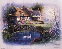 Coutnry Cottages - bridge Fine Art Print