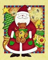 Santa and Bear Fine Art Print