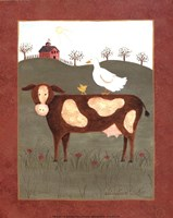 Cow with Duck Fine Art Print