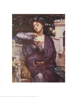 Libra and Her Sparrow 1907 Framed Print