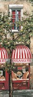 Red Striped Awning Fine Art Print
