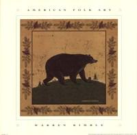 Folk Bear Framed Print