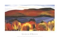 "Lake George, Autumn, 1927 by Georgia O'Keeffe, 1927 - 38"" x 24"""