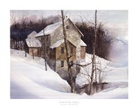 Winter Mill Fine Art Print
