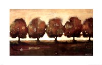 "Row of Trees II by Norman Wyatt Jr. - 22"" x 14"""