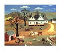Chores on the Farm Fine Art Print