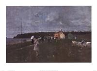 Partie De Croquet La Plage a Stcast Fine Art Print