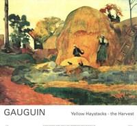 Yellow Haystacks-the Harvest Fine Art Print