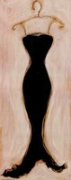 "Black Evening Gown by Susan Osborne - 8"" x 20"""