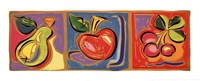 "Still Life with Fruit II by Mary Graves - 20"" x 8"""