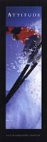 "Attitude-Skier by Mali Nave - 12"" x 36"""