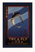 "Trout - try a fly by Mali Nave - 24"" x 36"""