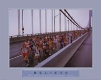 Believe - Marathon Runners Fine Art Print
