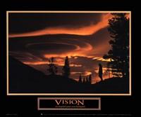 Vision-Gold Sky Framed Print