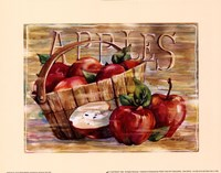 Fruit Stand Apples Fine Art Print