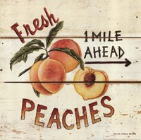 Fresh Peaches Framed Print