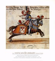 Knight With Red Javelin Framed Print