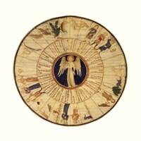 "Astrological Chart I by Mali Nave - 18"" x 18"""